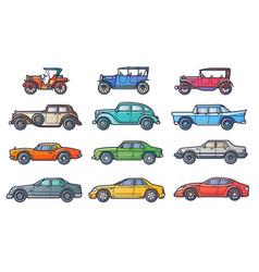 cars history vector image