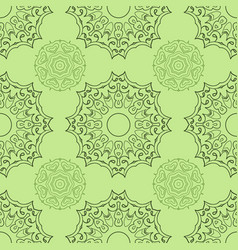 green seamless doodle pattern ethnic ornament vector image vector image