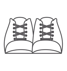 monochrome silhouette with pair of worker boots vector image