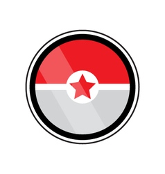 Pokeball video game icons and design elements vector image