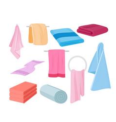 towels set cloth vector image
