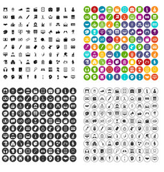 100 artistic guidance icons set variant vector image