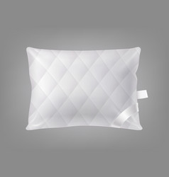 3d realistic square pillow template vector image
