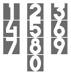 a set of numbers in the form of a square of thin vector image