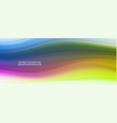 abstract color background color wavy fluid shapes vector image