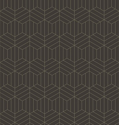 Abstract geometric line hexagon seamless pattern vector