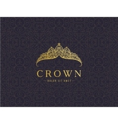 abstract luxury royal golden company logo icon vector image