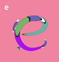 Alphabet typography logo letter with cartoon vector