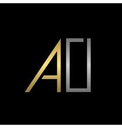 Ao letters logo vector