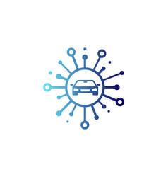 Automotive share logo icon design vector