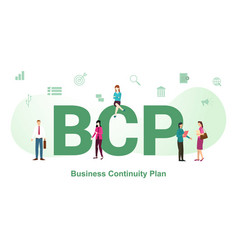 Bcp concept with big word or text and team people vector