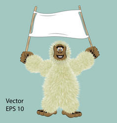 big foot vector image
