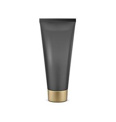 Black tube mock-up for cream vector
