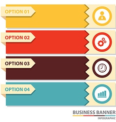 Business banner infographic vector image
