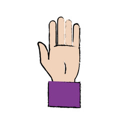 Business hand man showing five fingers vector