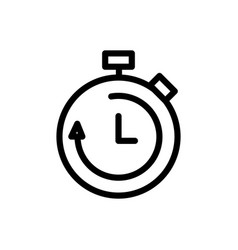 call center service business stopwatch speed line vector image