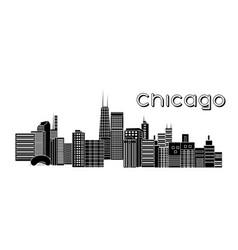Chicago landscape vector