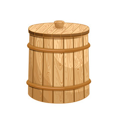closed milk wooden barrel isolated icon vector image