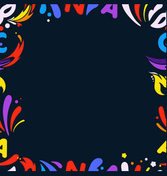 Colorful frame for any content design template vector