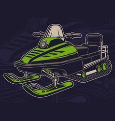 Coloured a snowmobile vector