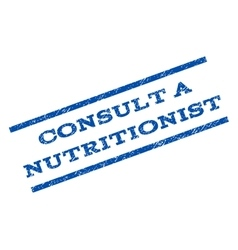 Consult a Nutritionist Watermark Stamp vector