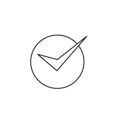 correct modern icon vector image