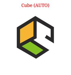 Cube auto logo vector