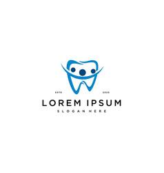 Dental family logo icon design template vector