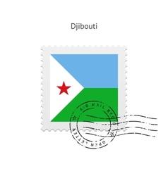 Djibouti Flag Postage Stamp vector