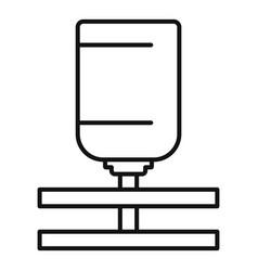 Drop barrel irrigation icon outline style vector