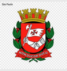 emblem sao paulo vector image