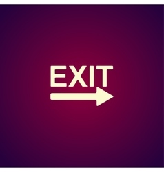 Exit icon - vector image