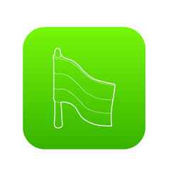 flag icon green vector image