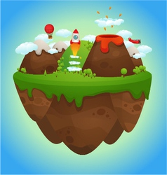 floating island vector image