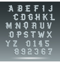 Font alphabet template vector image