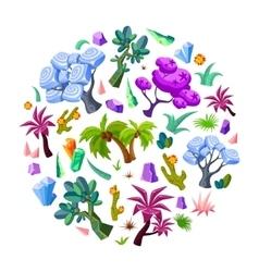 Game design nature elements set vector