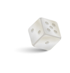 Game dice of stone with shadow vector