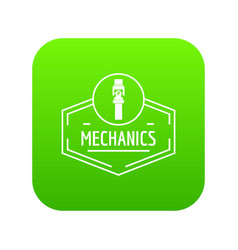 gear mechanic icon green vector image