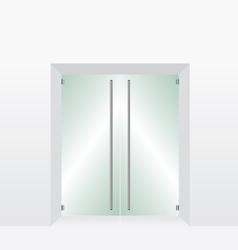 Glass transparent door vector image