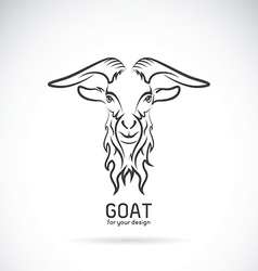 Goat head design vector image