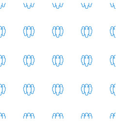 Group icon pattern seamless white background vector