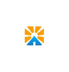 home shine realty company logo vector image
