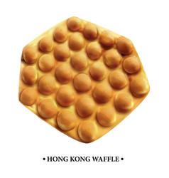 Hong kong waffle fast food vector