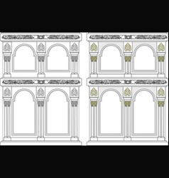Iconostasis architectural object vector