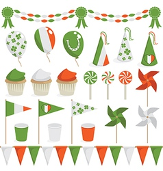 Irish decorations vector