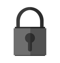 Isolated padlock inside shield design vector image