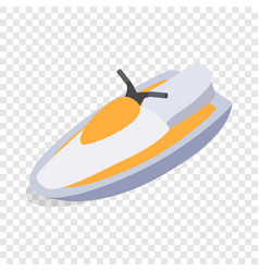 Jet ski isometric icon vector