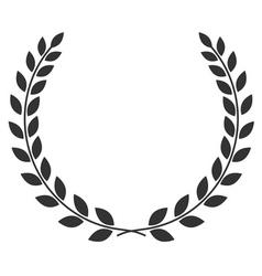 Laurel wreath symbol vector