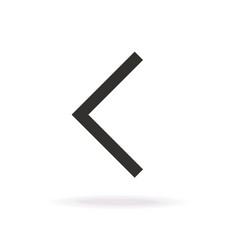 Left arrow icon modern line style vector