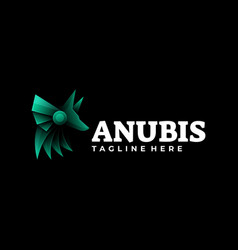 Logo anubis gradient colorful style vector